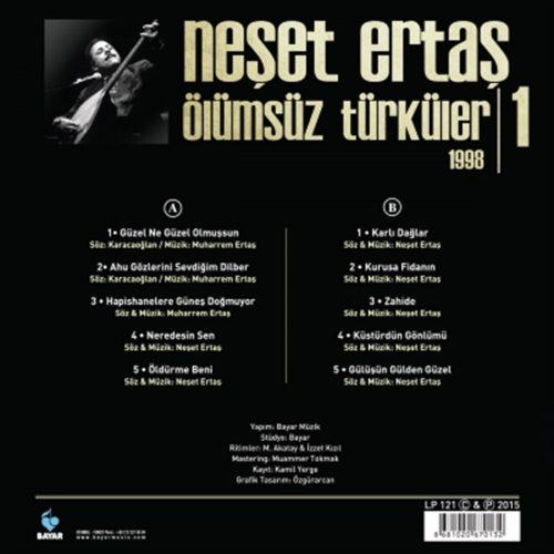 Satılık-Plak-Neşet-Ertaş-Ölümsüz-Türküler-1-1998-Plak-Arka